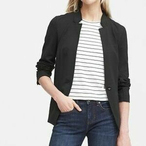 Banana Republic Unstructured Stretch Ponte Blazer